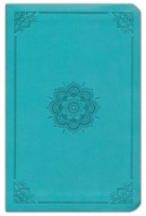 ESV Value Compact Bible (TruTone, Turquoise, Emblem Design), Leather, imitation, Green