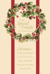 For Special Friends At Christmas Cards, Box of 18