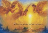 He Left the Splendor and Glory Of Heaven Cards, Box of 18