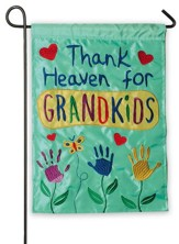 Thank Heaven For Grandkids Flag, Small