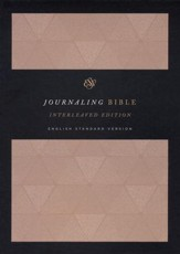 ESV Journaling Bible, Interleaved Edition, Cloth over Board, Tan - Slightly Imperfect