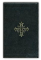 ESV UltraThin Bible (TruTone, Olive, Floral Cross Design), Imitation Leather, Green