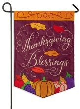 Thanksgiving Blessings Flag, Small