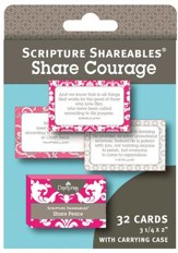 Courage, Shareables Scripture Cards, Package of 32