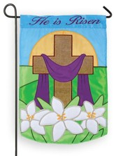 He is Risen, Cross, Flag, Small