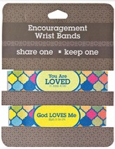 Loved Encouragement Wrist Bands, Package of 2