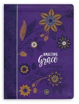 Amazing Grace 2018 16-Month Weekly Planner with zipper immitation leather