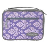 Purple & Gray Bible Cover with Faith & Peace Patch, Thinline