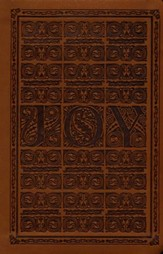 ESV Value Compact Bible (TruTone, Brown, Joy Woodcut Design), soft imitation leather