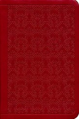 ESV Value Compact Bible (TruTone, Ruby, Vine Design), soft imitation leather