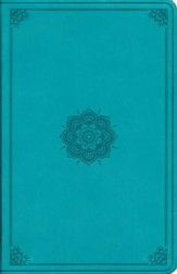 ESV Large Print Value Thinline Bible (TruTone, Turquoise, Emblem Design), soft imitation leather