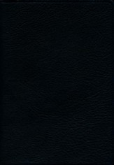 ESV Large Print Compact Bible , Black Topgrain Leather - Slightly Imperfect
