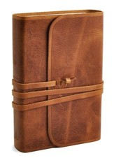 ESV Student Study Bible, Natural Leather, Brown, Flap with Strap