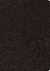 ESV Heirloom Study Bible (Goatskin, Black), Leather, real