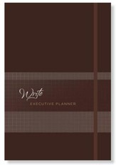 2019 Write Executive Planner - 16-Month Weekly Planner, Nutmeg