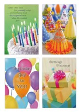 Birthday, Blessed & Bright Cards, Box of 12