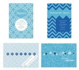 Baptism, Blue Patterns Cards, Box of 12