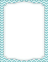 Turquoise Chevron Computer & Writing Paper (50 Sheets)