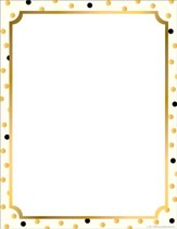 Gold Computer & Writing Paper (50 Sheets)