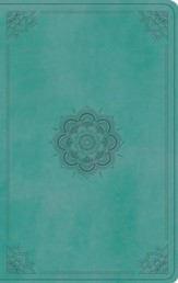 ESV Value Thinline Bible, TruTone, Turquoise, Emblem Design