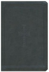 ESV Large Print Thinline Reference Bible, TruTone, Olive, Celtic Cross Design