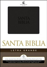 Biblia Letra Grande RVR 1960, Piel Especial Negra  (RVR 1960 Large Print Bible, Imitation Leather, Black)