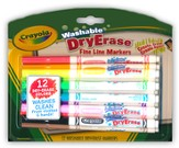 Crayola, Washable Dry-Erase Markers, 12 Pieces