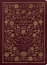 ESV Illuminated Bible, Art Journaling Edition, Burgundy Imitation Leather
