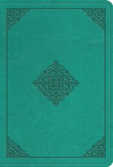 ESV Value Large Print Compact Bible (TruTone Imitation Leather, Teal, Ornament Design)