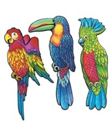 Shipwrecked: Exotic Bird Cutouts (pkg. of 3)