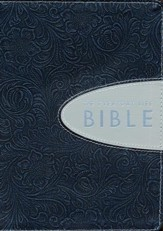 The Everyday Life Bible, Bonded Leather, Hand-Tooled    Pewter with Graphite Inset