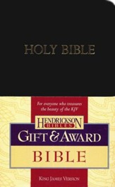 KJV Gift & Award Bible, Imitation leather, Black , Case of 24