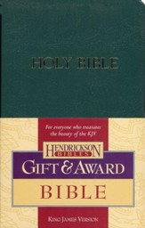 KJV Gift & Award Bible, Imitation leather, Dark green , Case of 24