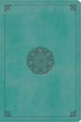 ESV Study Bible, Personal Size (TruTone Imitation Leather, Turquoise with Emblem Design) - Imperfectly Imprinted Bibles