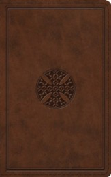 ESV Thinline Bible (TruTone Imitation Leather, Brown with Mosaic Cross Design)