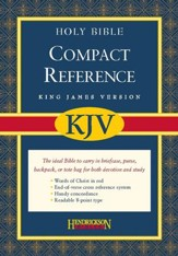 KJV Compact Large Print Reference Bible, Bonded Leather, Burgundy