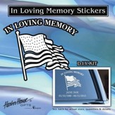 In Loving Memory, Flag, Window Sticker
