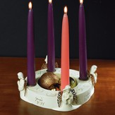 Angel Wings Advent Wreath with Candles