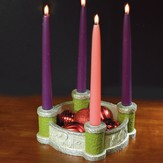 Bethlehem Scenes Advent Wreath with Candles