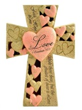 Love-Faith, Hope, Love LED Lighted Tabletop Cross