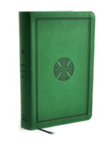 ESV Student Study Bible, Trutone, Green with Mosaic Cross Design - Slightly Imperfect