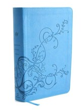 ESV Student Study Bible, TruTone, Sky Blue with Ivy Design - Slightly Imperfect