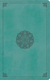 ESV Large Print Personal Size Bible (TruTone, Turquoise, Emblem Design) - Imperfectly Imprinted Bibles