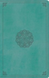 ESV Large Print Value Thinline Bible (TruTone, Turquoise, Emblem Design) - Imperfectly Imprinted Bibles