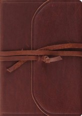 ESV Archaeology Study Bible, Brown Natural Leather, Flap with Strap
