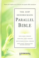 Hendrickson Parallel Bible, hardcover - Slightly Imperfect