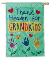 Thank Heaven For Grandkids Flag, Large