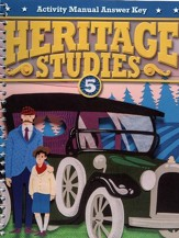 Heritage Studies Grade 5 Student Activities Key (4th Edition)