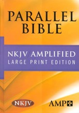 NKJV Amplified Parallel Bible Hardcover Large Print - Slightly Imperfect