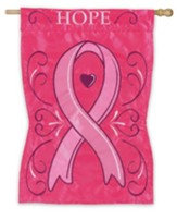 Hope, Pink Ribbon Flag, Large